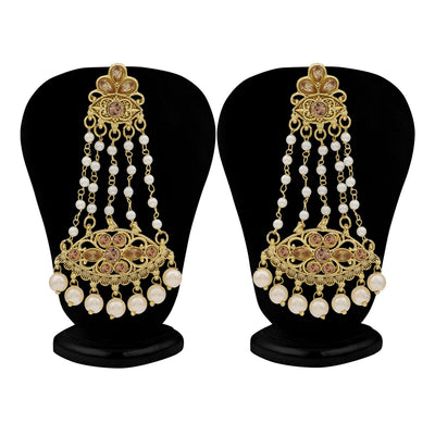Sukkhi Stylish LCT Gold Plated Pearl Chandelier Earring For Women
