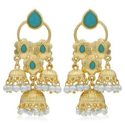Sukkhi Trendy Gold Plated Pearl Jhumki Earring For Women