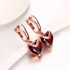 Sukkhi Classy Rhodium and Rose Gold Plated Crystal Heart Dangle Earring Combo For Women