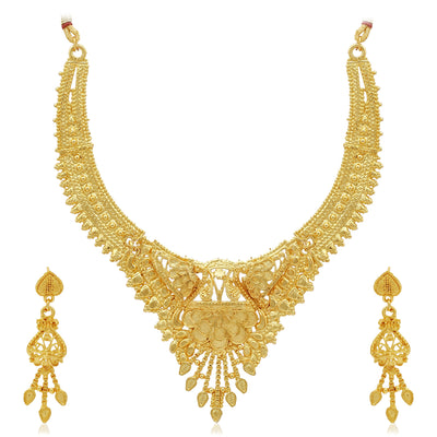 Sukkhi Attractive 24 Carat Gold Plated Choker Necklace Set for Women