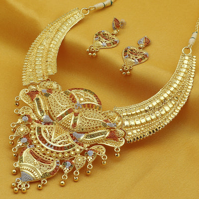 Sukkhi Amazing 24 Carat Gold Plated Choker Necklace Set for Women