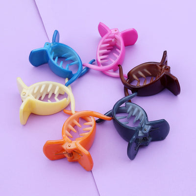 Sukkhi Classy Butterfly Hair Clip Hair Accessories for Women and Girl (Pack of 6) (Size: M)