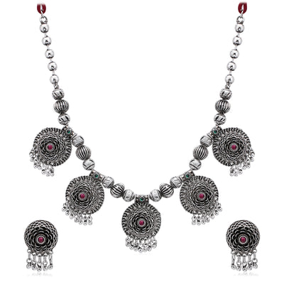 Sukkhi Dazzling Oxidised Necklace Set for Women