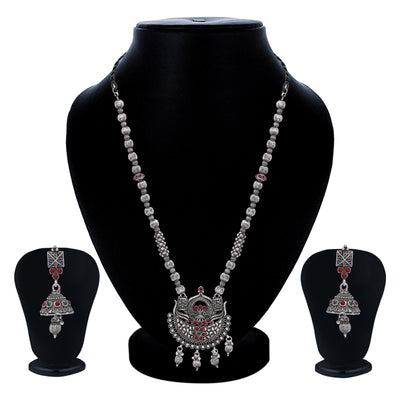 Sukkhi Glorious Oxidised Necklace Set for Women