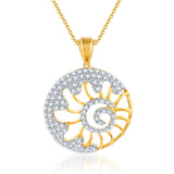 Pissara Incredible Gold and Rhodium plated CZ Pendant Set-1