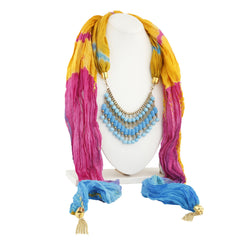 Sukkhi Angelic Gold Plated Scarf Necklace With Chain For Women