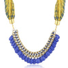 Sukkhi Gorgeous Gold Plated Scarf Necklace With Chain For Women-1