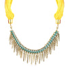 Sukkhi Sparkling Gold Plated Scarf Necklace With Chain For Women-1