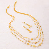 0006 Sukkhi Modern 3 String Gold Plated Necklace Set for Women