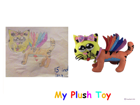 Draw your own soft toy