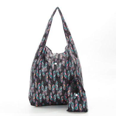 Black Feathers Eco Chic Shopper
