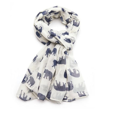 Elephant Scarf - Cream