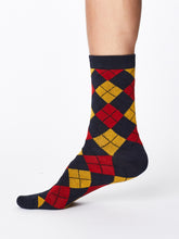 Load image into Gallery viewer, Red Diamond Bamboo Socks