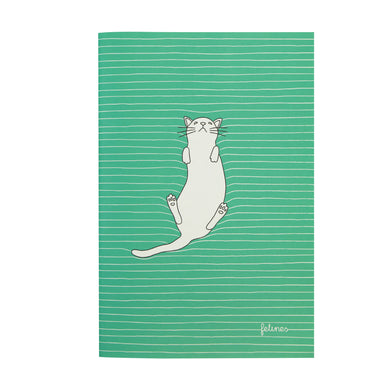 Medium Green Cat Notebook
