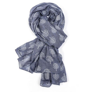 Mulberry Tree Scarf - Blue