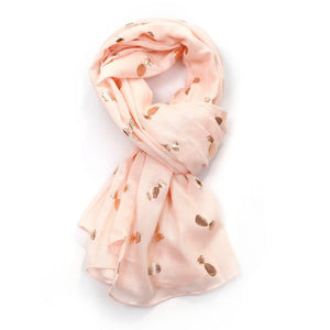 Rose Gold Pineapple Scarf - Pink