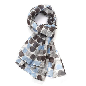 Scallop Shape Scarf - Blue
