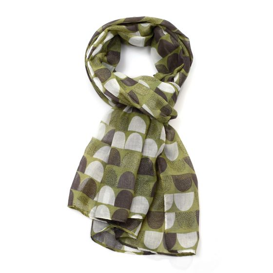 Scallop Shape Scarf - Green