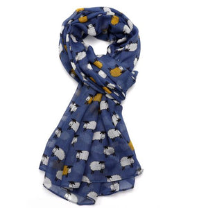 Sheep Scarf - Blue