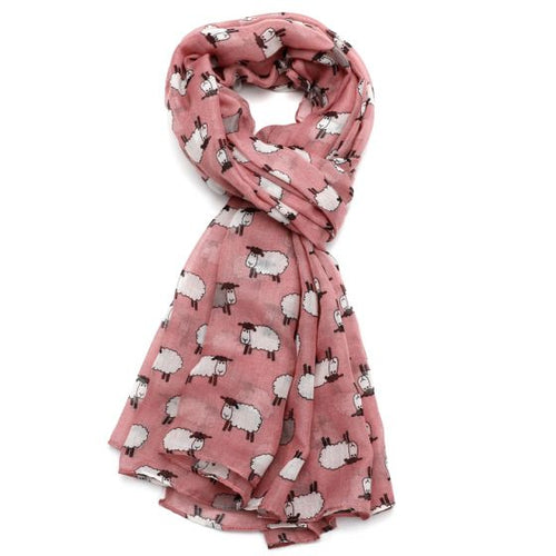 Sheep Scarf - Pink