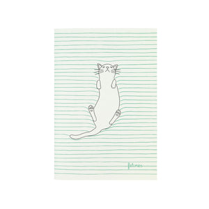 Small Stitched Cat Notebook