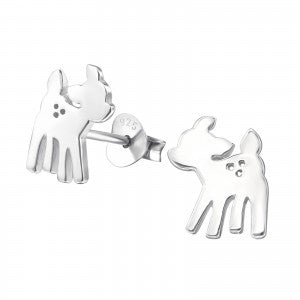 Sterling Silver Deer Earrings
