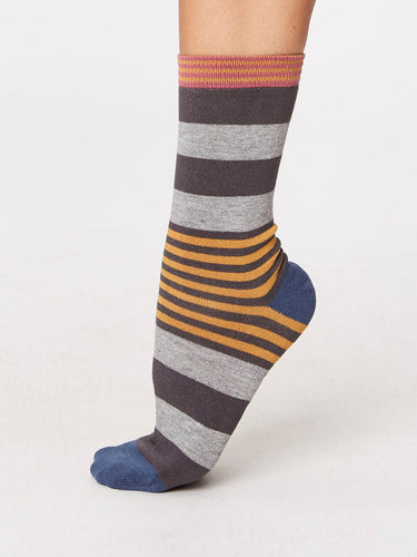 Stripey Bamboo Socks