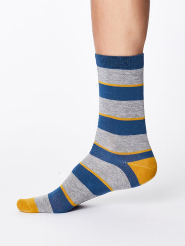 Wide Stripe Bamboo Socks