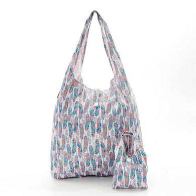 White Feathers Eco Chic Shopper