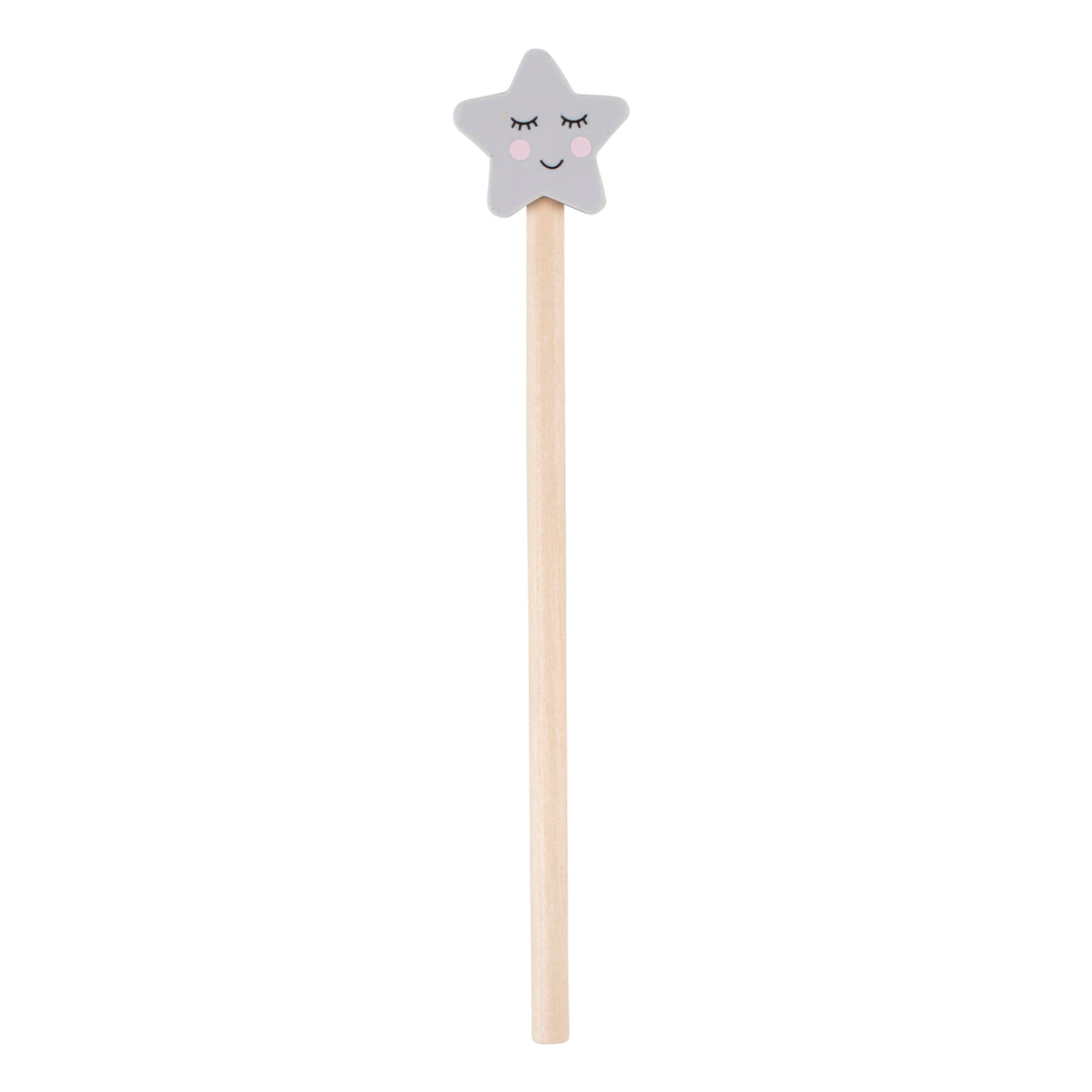 Pencil and Star Eraser