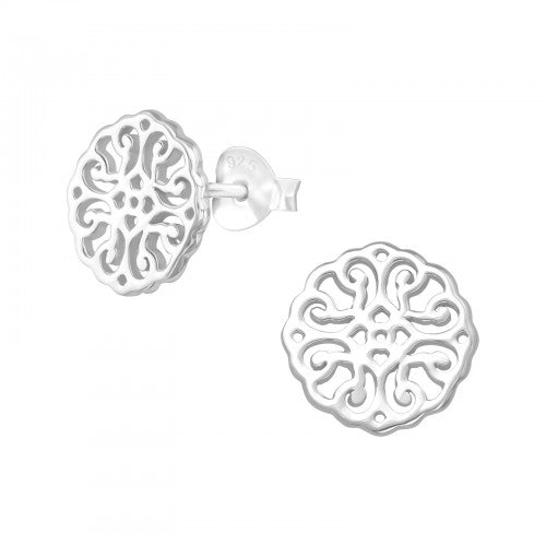 Sterling Silver Antique Style Earrings