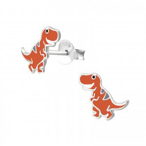 Sterling Silver colourful dinosaur Earrings
