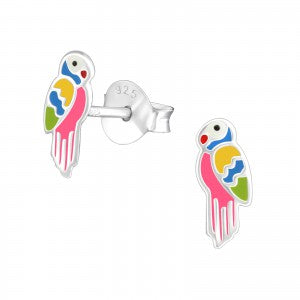 Sterling Silver Parrot Earrings