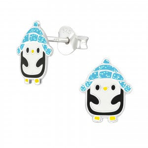 Sterling Silver Penguin Earrings
