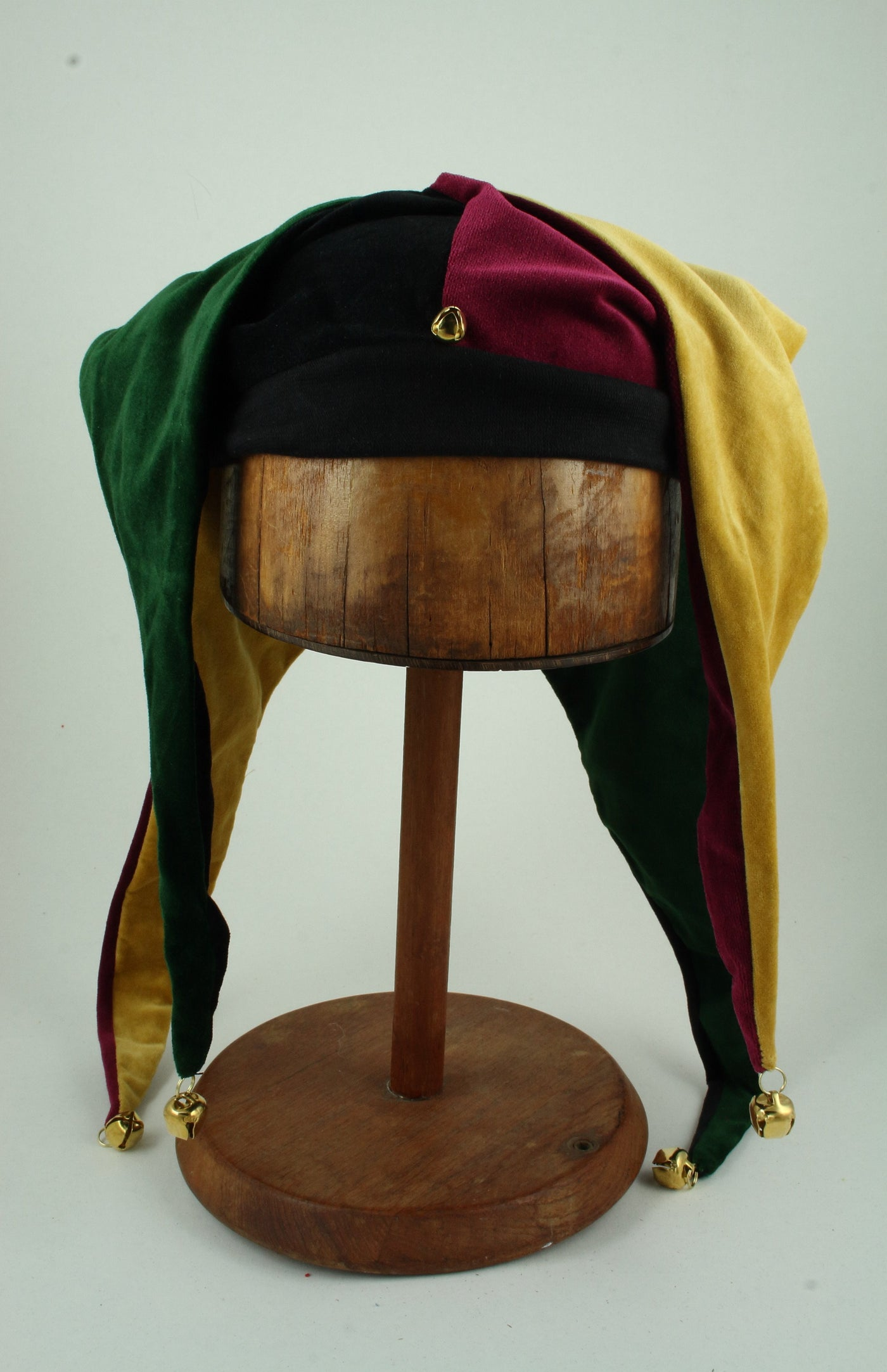 Jester Hat - Black / Green / Gold / Wine - Tall Toad