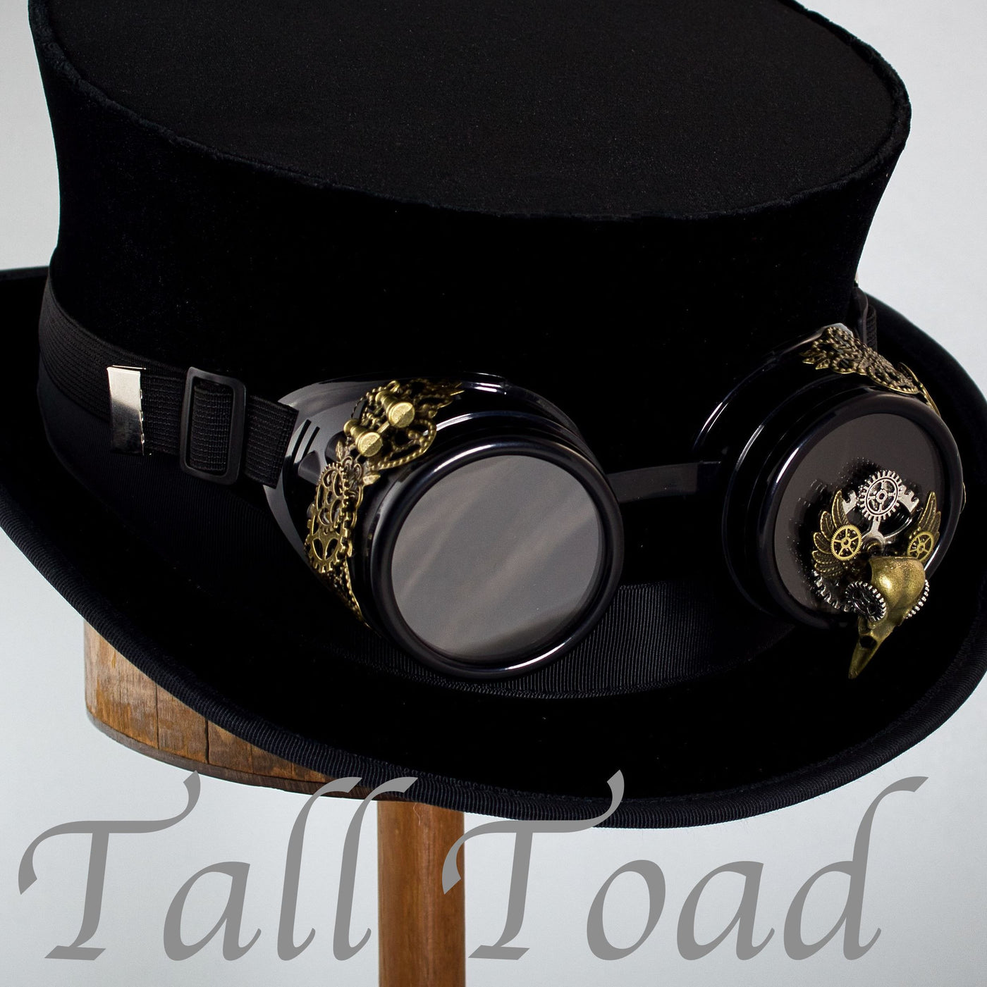 Steampunk Goggles - Black Plague Doctor - Tall Toad