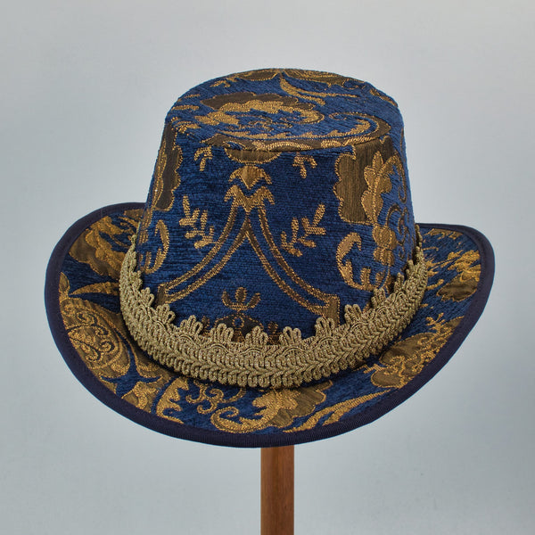 Tall Hat - Blue Gold Metallic - Tall Toad