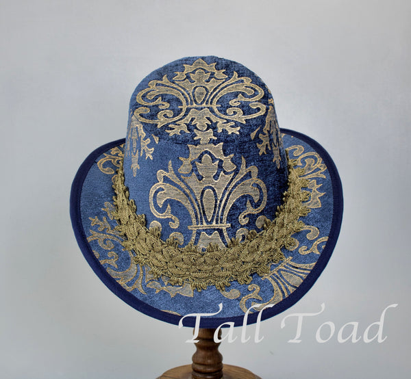 Tall Hat - Blue / Tan Chenille - Tall Toad