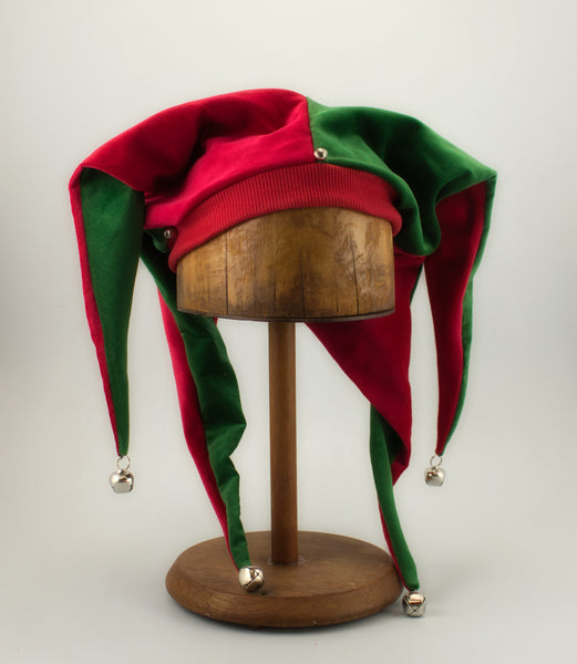 Jester Hat - Red / Green - Tall Toad