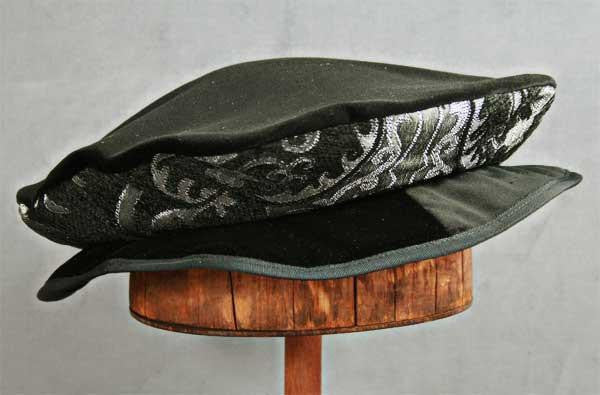 Flat Cap - Black Silver Metallic - Tall Toad