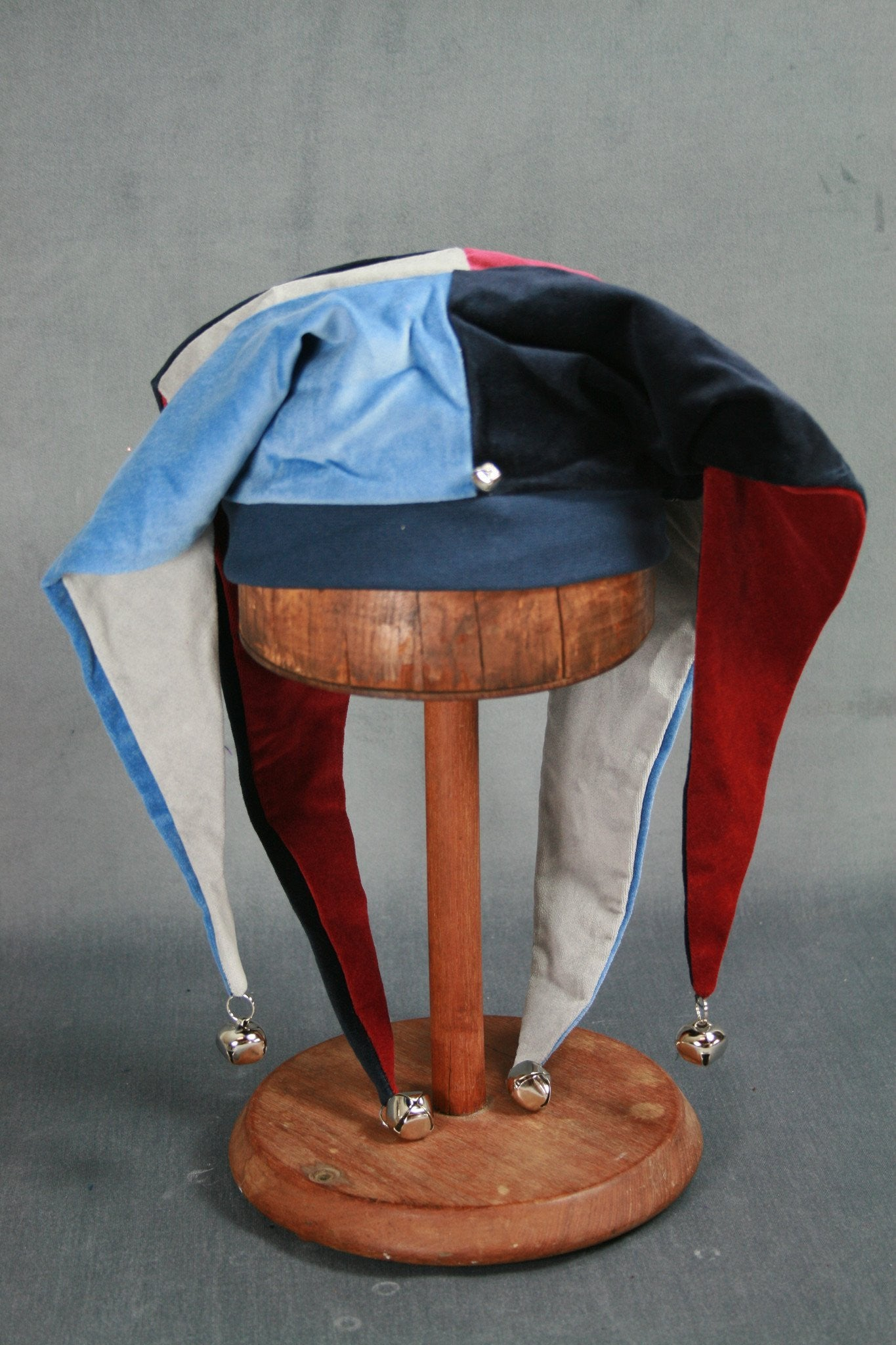 Jester Hat - Navy / Silver / Wine / Light Blue - Tall Toad