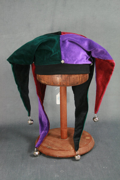 Jester Hat - Black / Purple / Wine / Green - Tall Toad