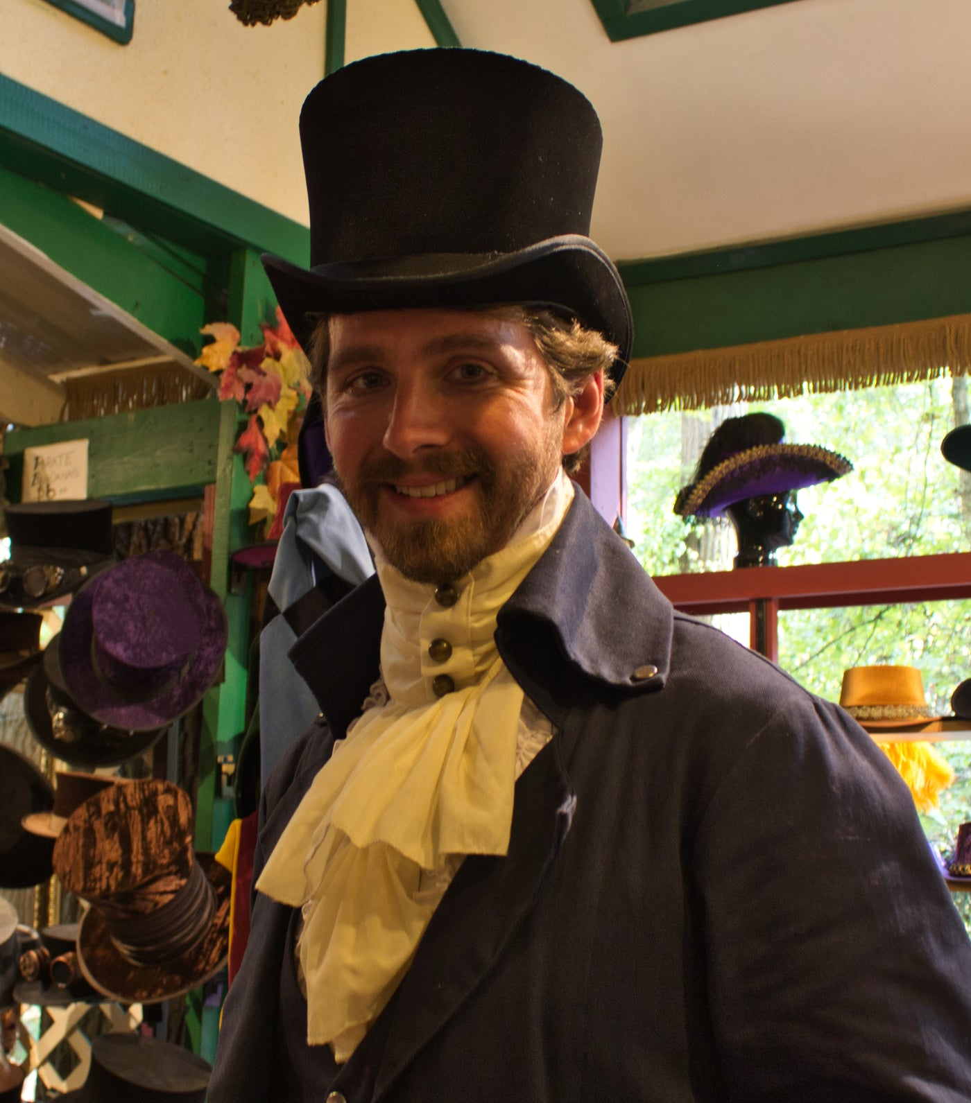 Victorian / Edwardian Top Hat - Black - Tall Toad