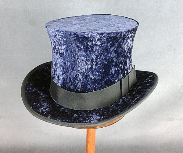 Top Hat - Blue Crushed Velvet - Tall Toad