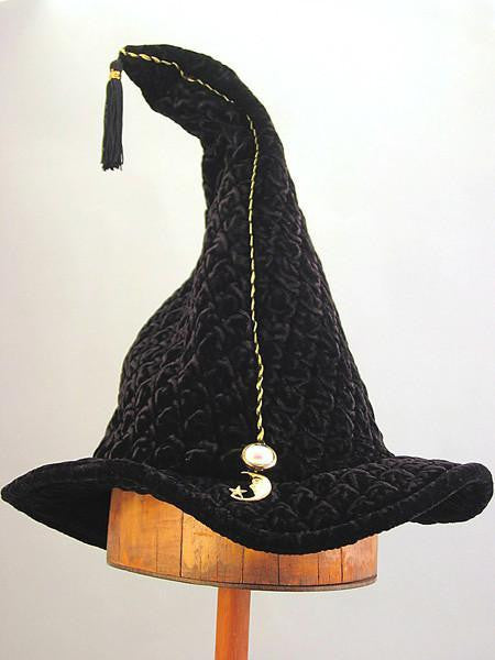 Quilted Velvet Wizard - Black Quilted Velvet - Tall Toad