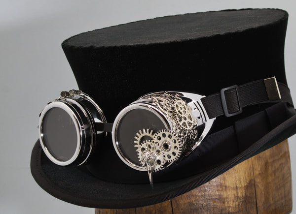 Steampunk Goggles - Silver Plague Doctor - Tall Toad
