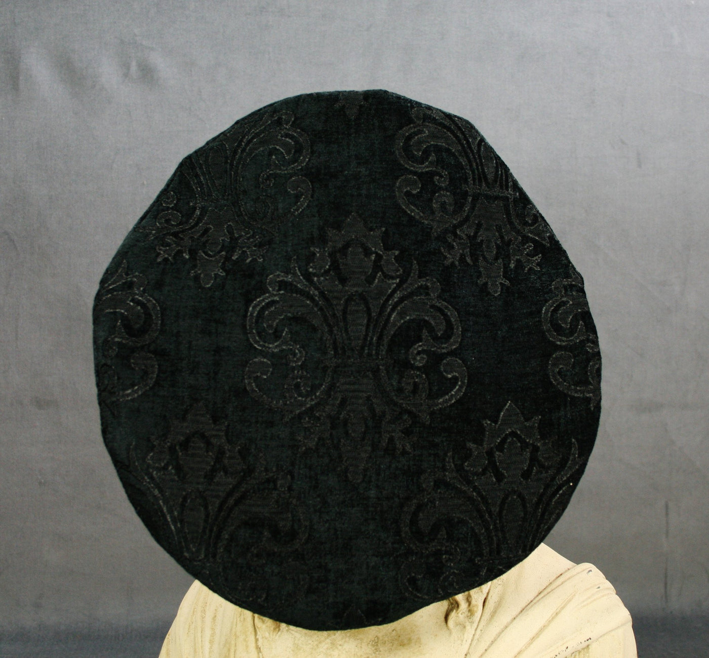 Flat Cap - Black Chenille - Tall Toad