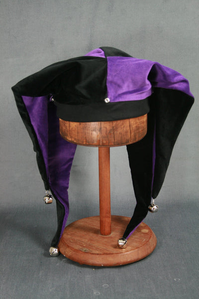 Jester Hat - Black / Purple - Tall Toad