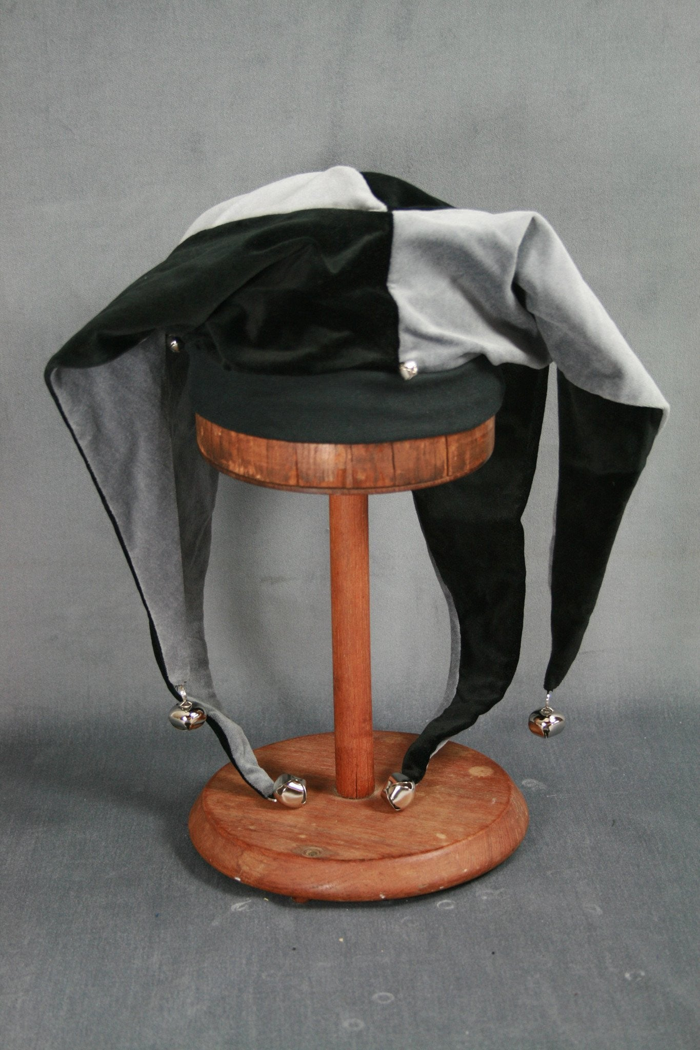 Jester Hat - Black / Silver - Tall Toad