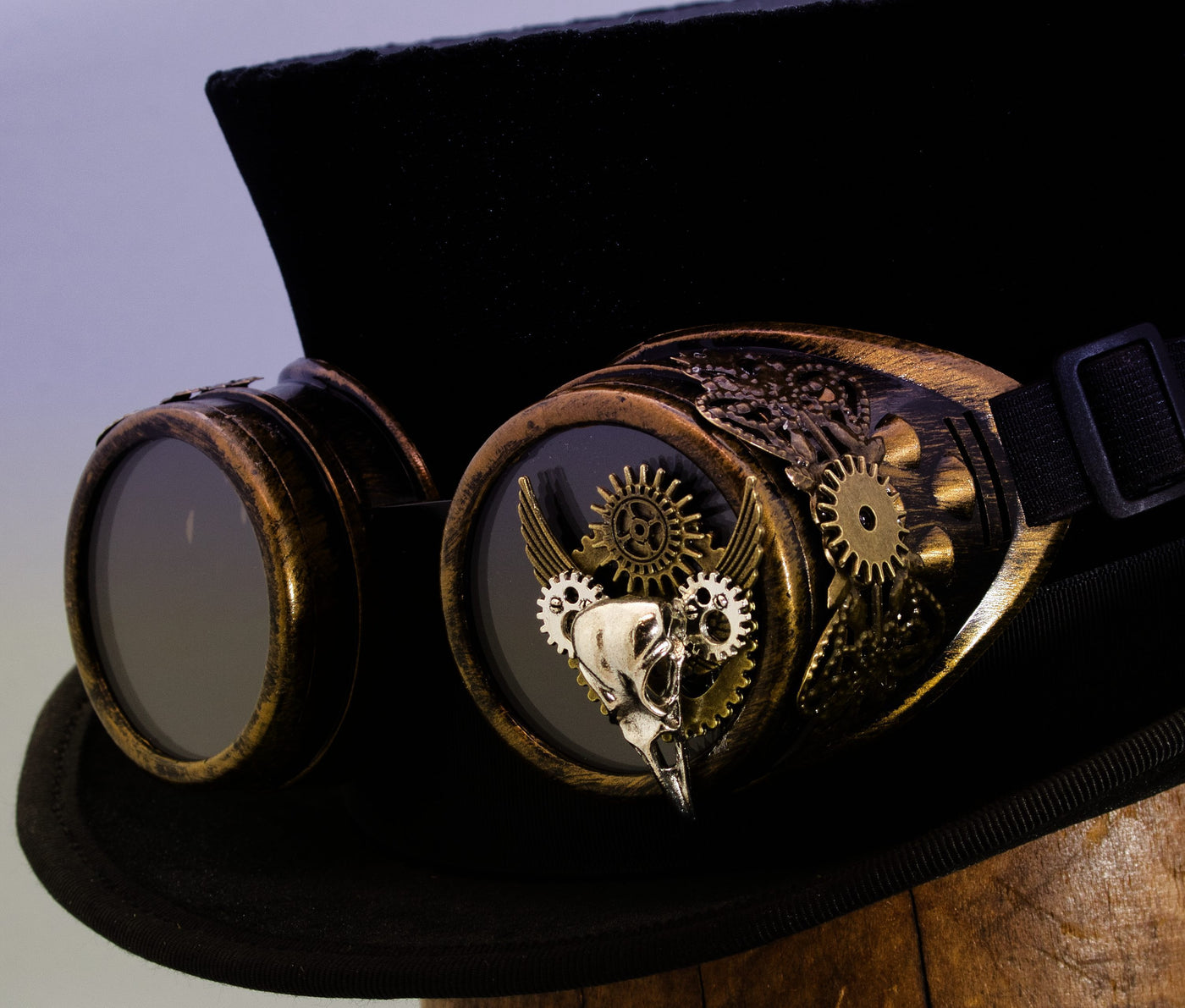 Steampunk Goggles - Bronze Plague Doctor - Tall Toad